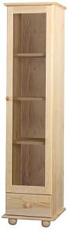 Mała witryna z drewna sosnowego Classic