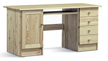Biurko z drewna sosnowego z szufladkami Modern III