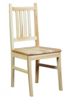 Sosnowe krzesło jadalniane z wysokim oparciem Eris