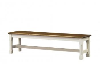 Rustykalna ławka z drewna Monaco