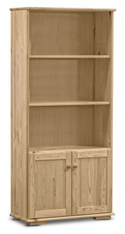 Regał z drewna sosnowego z szafką Modern III