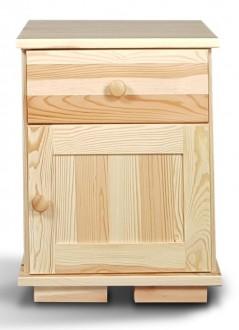 Drewniany stolik nocny z szafką Modern II