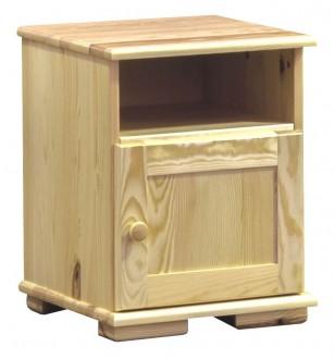 Drewniany stolik nocny na stopkach Modern III