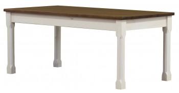 Drewniany stół nierozkładany na czterech nogach Monaco