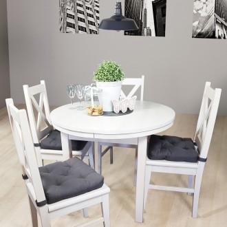 Okrągły rozkładany stół do jadalni Modern