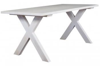 Drewniany stół do jadalni z podstawą w kształcie litery X Retro