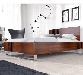 Bukowe łóżko sypialniane z wezgłowiem Kielce
