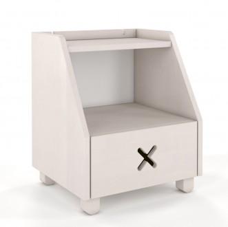 Bukowa szafka nocna z szufladą Ustka