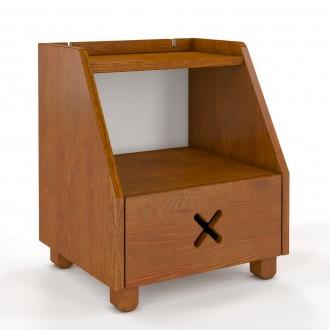 Sosnowa szafka nocna z szufladą Ustka