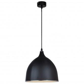 Czarna lampa wisząca Skin z kloszem z ekoskóry