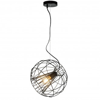 Druciana lampa wisząca w kolorze czarnym Marl