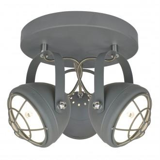Szary plafon w stylu loft Balve z trzema reflektorami