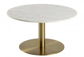 Okrągły stolik kawowy z marmurowym blatem Corby