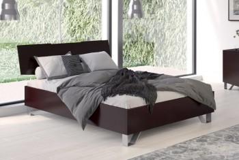 Łóżko z wezgłowiem z drewna bukowego Bardo
