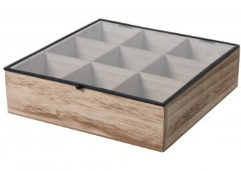 Drewniane pudełko na herbatę i drobiazgi Teabox Wood 9
