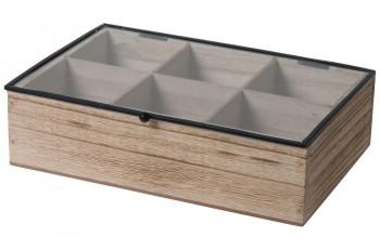 Drewniane pudełko na herbatę i drobiazgi Teabox Wood 6