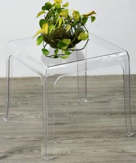 Transparentny stolik kawowy Duch S