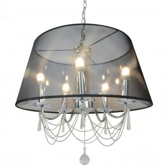Wisząca lampa Clamart z czarnym abażurem i łańcuszkami