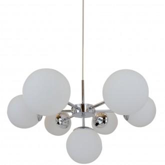 Designerska lampa wisząca Jena z siedmioma kulistymi kloszami