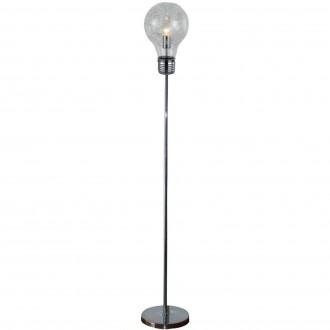 Lampa podłogowa Bulb ze szklanym kloszem w kształcie żarówki