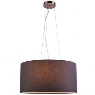 Klasyczna lampa wisząca Cafe 50 z tkaninowym abażurem