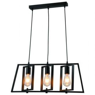 Potrójna lampa wisząca Fausto w stylu loftowym