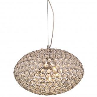 Wisząca lampa Rosa 40 z okrągłym kloszem z kryształami