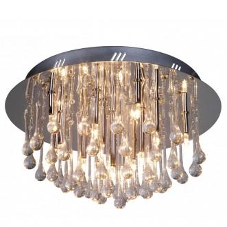 Okrągły plafon kryształowy Serpentis w stylu glamour