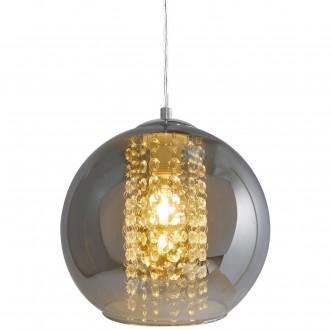 Wisząca lampa z transparentnym kloszem Ivia w kształcie kuli