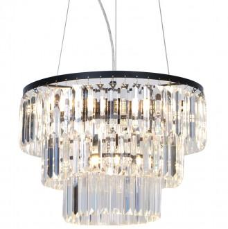 Trzypoziomowy żyrandol Tifanny z kryształami w stylu glamour