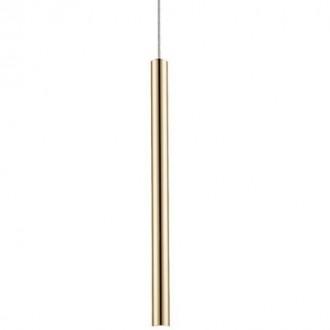 Podłużna lampa wisząca Loya 1 złota