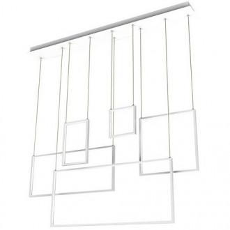 Wisząca lampa wieloczęściowa LED Rectan o geometrycznych kształtach