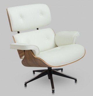 Biały fotel ze skóry Tokyo