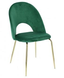 Aksamitne krzesło na złotych ngach Solie