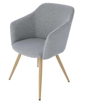 Skandynawskie krzesło z podłokietnikami Molto