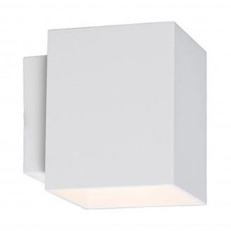 Biały kinkiet ścienny Sola WL kwadrat