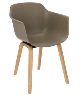 Krzesło z plastikowym siedziskiem Glad