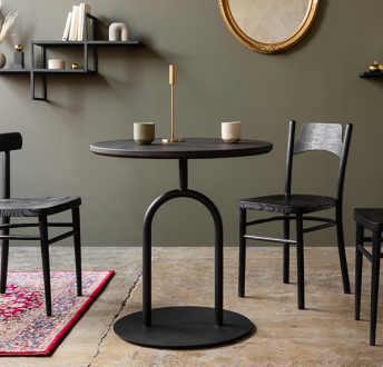 Designerski stół z okrągłym blatem Kamerton 70cr