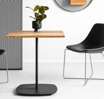 Stół na jednej nodze w stylu loftowym Oval