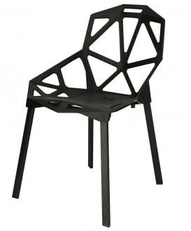 Designerskie krzesło z ażurowym siedziskiem Gap PP