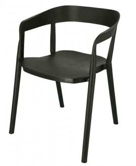Plastikowe krzesło z podłokietnikami Bow