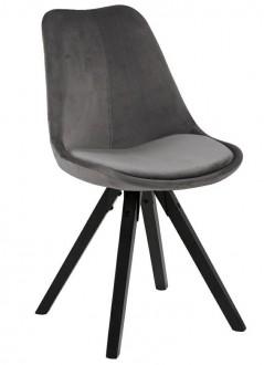 Krzesło z poduszką Dima Vic na czarnych nogach