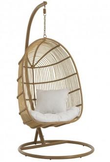 Designerski fotel bujany do ogrodu Oval