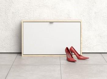 Płytka szafka na buty Roma 1D dąb sonoma / biały