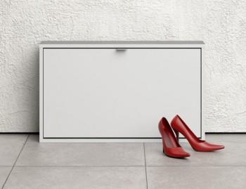 Biała szafka na obuwie Roma 1D płytka
