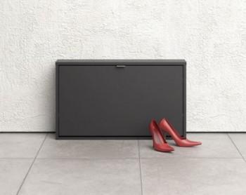 Czarna szafka na buty Roma 1D płytka