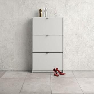 Biała szafka na obuwie Roma 3D płytka