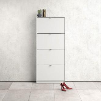 Biała szafka na obuwie Roma 4D płytka
