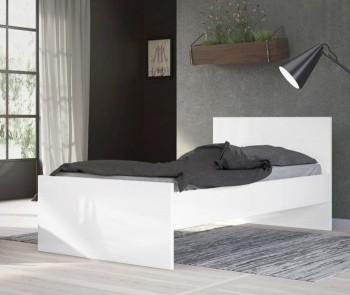 Łóżko 90x190 Naia biały połysk