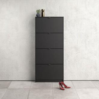 Czarna szafka na buty Roma 4D płytka